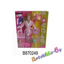 "Кукла ""Саура с феном"" (аналог Барби), в комплекте фен, расческа, зеркальце, тени, босаножки, полусапожки, ролики, сапоги."