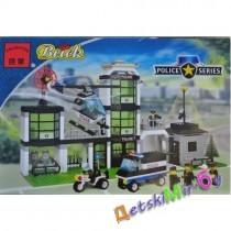 """""""Конст-р""""(Brick) """"Офис полиции"""" (аналог LEGO)"""