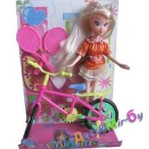 Кукла Винкс с крылышками и велосипедом