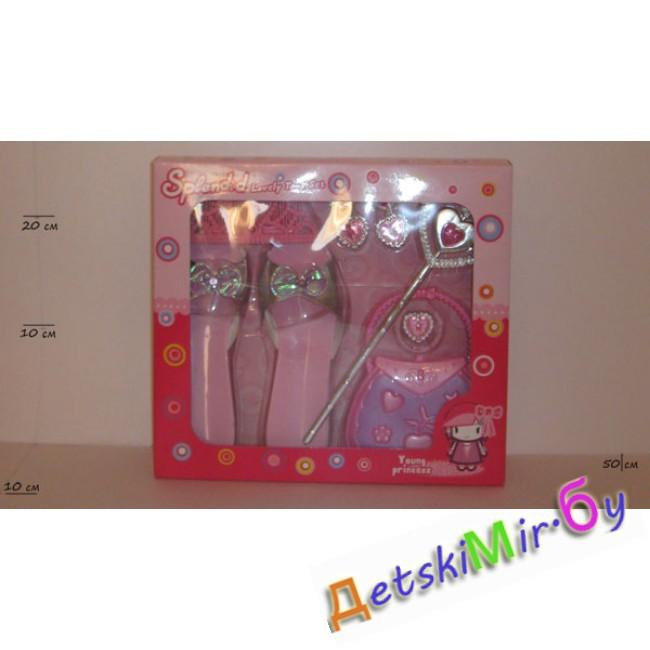 сережки Набор для девочки Конкурс красоты , туфельки, сумочка, волшебная палочка, сережки
