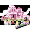 Конструктор для девочек, SLUBAN Розовая мечта M38-B0150 Романтический ресторан, (аналог BRICK)