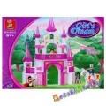Конструктор для девочек, SLUBAN Розовая мечта M38-B0153 Фантастический замок, (аналог BRICK и LEGO)