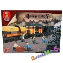 Конструктор SLUBAN Железнодорожный вокзал M38-B0233 (аналог BRICK)
