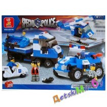 Конструктор SLUBAN Полицейский спецназ M38-B0190, (аналог BRICK и LEGO)