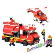 Конструктор SLUBAN Пожарные спасатели M38-B0222