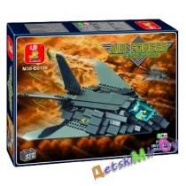Конструктор SLUBAN Воздушные войска M38-B0108 Бомбардировщик F-117, (аналог BRICK и LEGO)