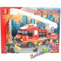Конструктор SLUBAN Пожарные спасатели M38-B0221,(аналог BRICK и LEGO)
