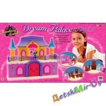 """Кукольный домик . В игровой набор """"Дворец мечты"""" входит мебель и человечки."""