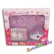 """Набор для девочки """"Принцесса с сумочкой""""   ( 8 предметов, в том числе сумочка, сережки, браслеты, колечко, корона)"""
