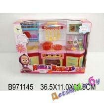 """Игрушка детская кухня для кукол-  """"Кухня для Маши и Миши"""", свет и звук"""