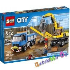 Экскаватор и грузовик, 60075 Lego City