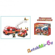 Конструктор SLUBAN Пожарные спасатели M38-B0223, (аналог BRICK и LEGO)