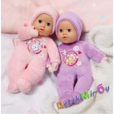 Моя первая кукла My little Baby Born розовая (супермягкая, со звуковым эффектом погремушки),Zapf, Германия.
