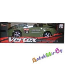 """Игрушка Машинка """"Кабриолет"""" (темно-черно-зеленая) на батарейках, свет, звук, самостоятельно объезжает препятствия"""