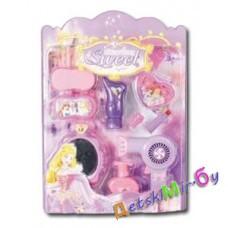 "Набор для девочки ""Стилист №2"" (фен, тюбик, помада, спонж , зеркало, флакон, тени)"