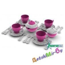 """Набор посуды """"Чайный сервиз """"Волшебная Хозяюшка"""" (24 предмета в сетке)"""