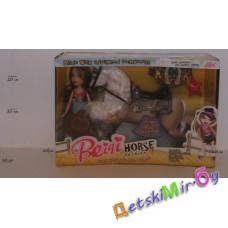 """Кукла Братц с лошадкой """"Сабрина на ферме"""" на батарейках в комплекте, размер 39*28*10, в наборе лошадка со сбруей, кукла со шляпой, подковы-заколки, расческа"""