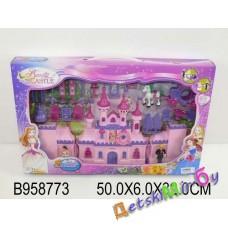 Кукольный домик, игрушка пластмассовая : Замок на батарейках, свет, звук.