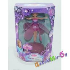 Кукла летающая фея с крылышками, работает от батареек
