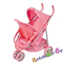 Коляска-трансформер Buggy Boom с настольной игрой в подарок для кукол многофу-я (люлька-переноска, поворот колес, рег.капюшон)