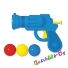 Пистолет пластмассовый с шариками (п/пакет)